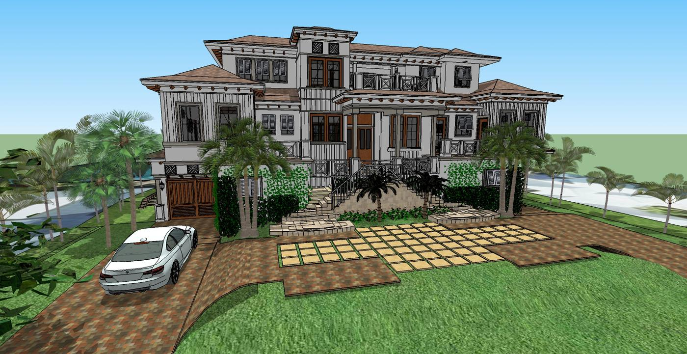 Residential house plans portfolio lotus architecture for West indian style house plans