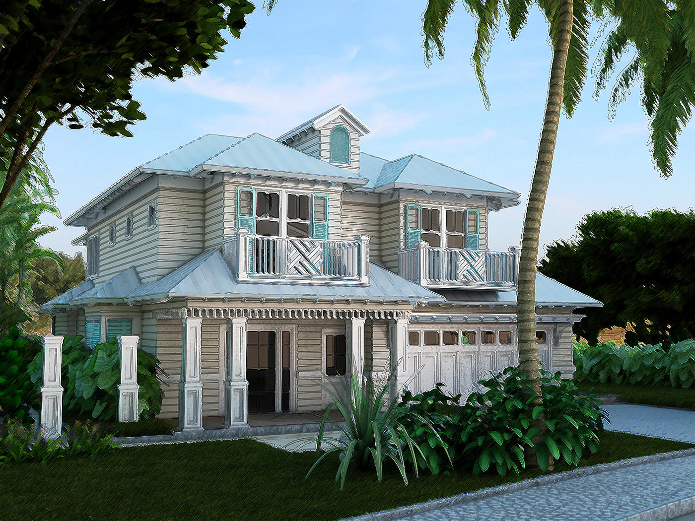 old florida style house plans ranch style log home floor plans residential house plans portfolio lotus architecture naples 266 lhp perspective 2 residential house plansphp old florida style house plans