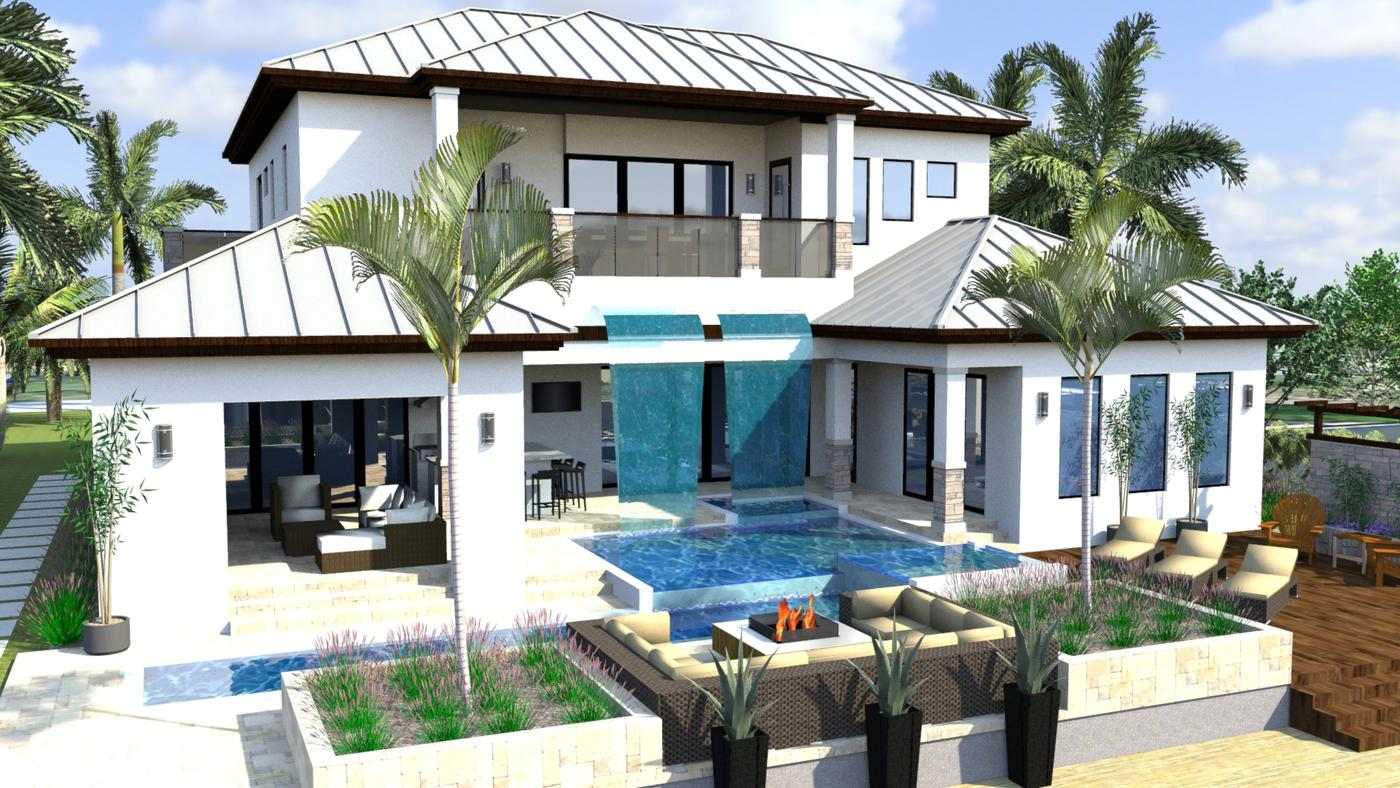 Residential house plans portfolio lotus architecture for Transitional house plans