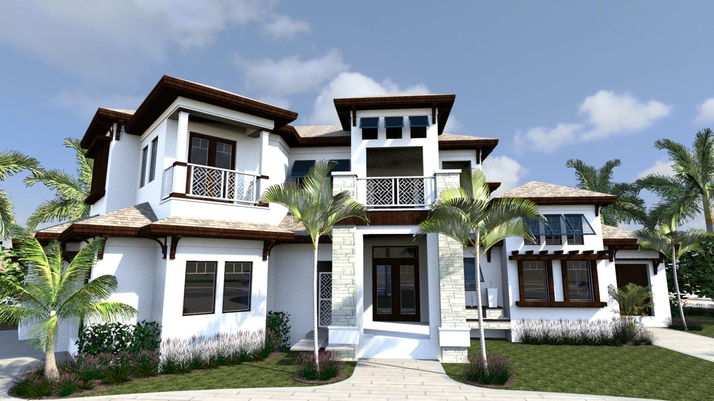 Residential house plans portfolio lotus architecture for British west indies architecture
