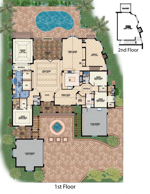 The Magnolia House Plan Naples Florida House Plans