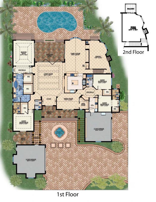 The magnolia house plan naples florida house plans for Magnolia house plans